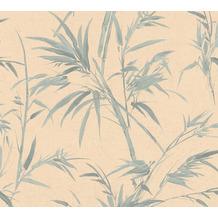 AS Création Vliestapete Sumatra Tapete mit Palmenblättern orange grün 373761