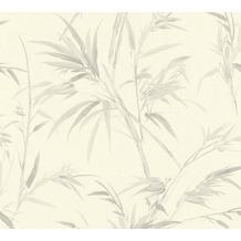 AS Création Vliestapete Sumatra Tapete mit Palmenblättern weiß grau 373762 10,05 m x 0,53 m
