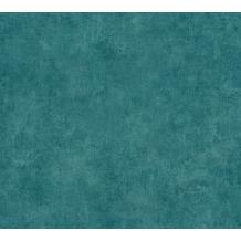 AS Création Vliestapete Sumatra Tapete Uni blau grün 373709 10,05 m x 0,53 m