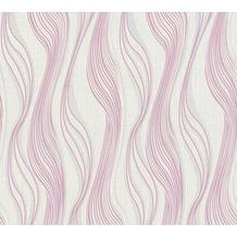 AS Création Vliestapete Trendwall Tapete gestreift grau metallic weiß 371409 10,05 m x 0,53 m