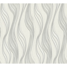 AS Création Vliestapete Trendwall Tapete gestreift lila weiß 371423 10,05 m x 0,53 m