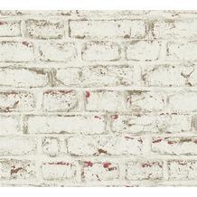 AS Création Vliestapete Trendwall Tapete in Vintage Backstein Optik beige rot weiß 371621 10,05 m x 0,53 m