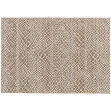 Astra Teppich Carpi Design151 Farbe 6 Gitter beige 60 cm x 110 cm