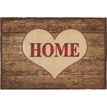 Astra Fussmatte Casadoor Home Herz Holz 50x70