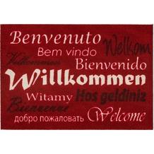 Astra Fußmatte Homelike Willkommen rot oR 50x70