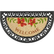Astra Türmatte Coco Relief D. 14 Welcome Blumen 45x75 cm