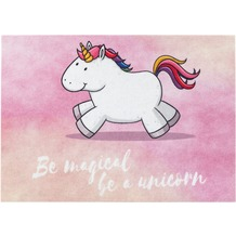 Astra Türmatte Happy Home D. 006 Einhorn magical rosa 50x70 cm
