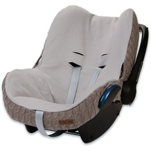 Baby's Only Bezug für Babyschale Zopf Taupe