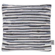 Barbara Becker Kissen (gefüllt) Rag-Rug grau-silber-schwarz 45 x 45 cm