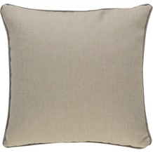 BARBARA Home Collection Kissenhülle Barbara beige 50 x 50 cm