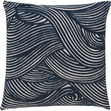 BARBARA Home Collection Kissenhülle Wave blau 50 x 50 cm