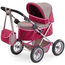 Bayer Design Puppenwagen Trendy grau/pink