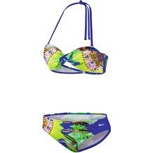 BECO Bikini, B-Cup Tropical Heat blau 36