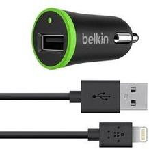 Belkin Car Charger 2,4 A + 1,2m Lightning Kabel Apple Schwarz