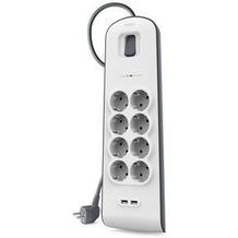 Belkin Surge Plus Überspannungsschutz, 8-Fach mit 2x USB, 2,4A