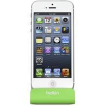 Belkin Sync-/Lade-Dock für iPhone 5/5S/SE, grün-grau