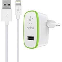 Belkin Wall Charger 2,4 A +1,2m Lightning Kabel für Apple Weiß