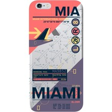 Benjamins AirPort MIA Miami - Silikon Cover - Apple iPhone 6, 6S