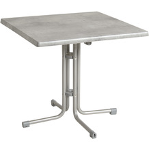 acamp Tisch piazza 70x70cm, grau