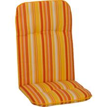 BEO Paspelauflage Hochlehner feine Streifen gelb-creme-orange M616
