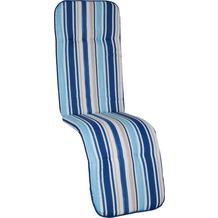 BEO Paspelauflage Relax Capri hellblau, blau gestreift MS02