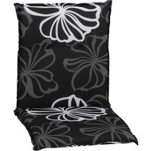 BEO Saumauflage Niedriglehner schwarz weiße Blüten M125