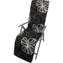 BEO Saumauflage Relax schwarz weiße Blüten M125