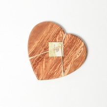 Berard Schneidbrett Herz groß, Olivenholz, Maße: 28 x 27 x 1,6 cm