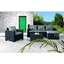 Best 4-tlg. Lounge Gruppe Kenia graphit/D.1531