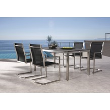 Best 5-tlg. Freischwingsessel Marbella+Tisch 160x90cm Sitzgruppe