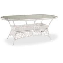 Best Alu-Korbtisch Madelene oval 180x100cm weiss Gartentisch