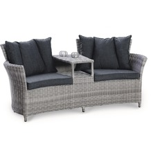 Best Duo-Lounge Barcelona warm-grey Gartenbank