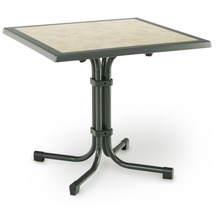 Best Tisch Boulevard Quadrat 80x80cm grün Gartentisch