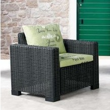 Best Lounge Sessel Kenia graphit/D.1532 Gartenstuhl