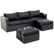 Best 5-tlg. Lounge-Set Aruba anthrazit/anthrazit Sitzgruppe Gartenlounge