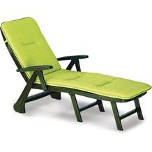 Best Rolliege Charleston grün+PL D.1362 Gartenliege Sonnenliege