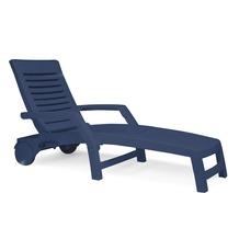 Best Rollliege Florida blau Gartenliege Sonnenliege