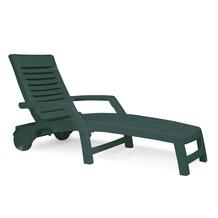 Best Rollliege Florida grün Gartenliege Sonnenliege