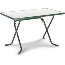 Best Scherenklapptisch eckig 110x70cm grün Gartentisch