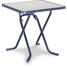 Best Scherenklapptisch eckig 67x67cm blau Gartentisch