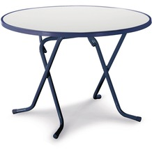 Best Scherenklapptisch rund 100cm blau Gartentisch
