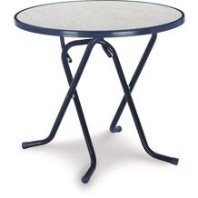 Best Scherenklapptisch rund 80cm blau Gartentisch