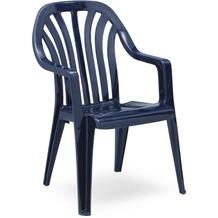 Best Stapelsessel Laredo blau Gartenstuhl