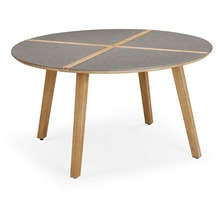 Best Tisch Barletta 140cm rund Grandis/betongrau
