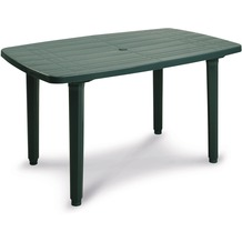 Best Tisch Festival 137x90cm grün Gartentisch