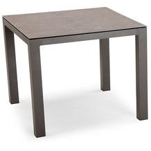 Best Tisch Houston 90x90cm anthrazit/anthrazit Gartentisch