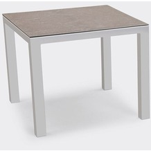 Best Tisch Houston 90x90cm silber/anthrazit Gartentisch