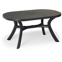 Best Tisch Kansas oval 145x95cm anthrazit Gartentisch