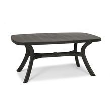 Best Tisch Kansas oval 192x105cm anthrazit Gartentisch