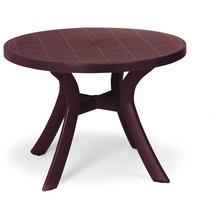 Best Tisch Kansas rund 100cm Ø bordeaux Gartentisch